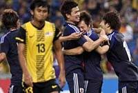 日本代表がマレーシア代表に圧勝