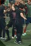 イラン選手が韓国スタッフに殴られる