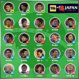 W杯日本代表メンバー23名が発表大久保が選出
