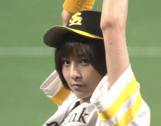 篠田麻里子 始球式
